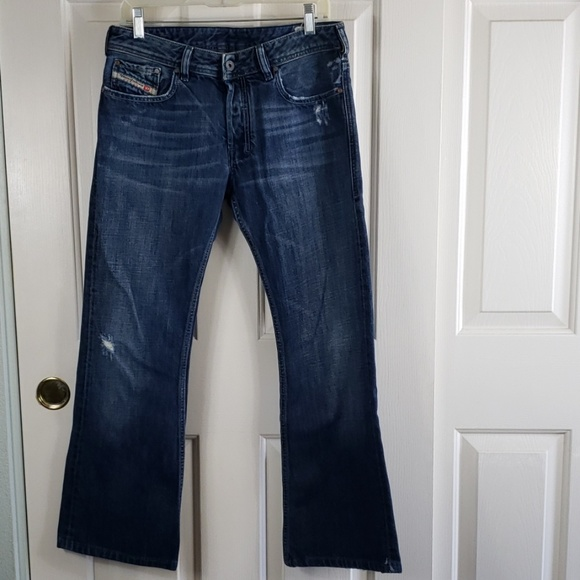 e36e4e2f Diesel Jeans | 30 Zathan Bootcut Buttonfly Destroyed | Poshmark